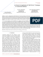 """Analysis of Critical Success Factors in Application of """"DRYWALL"""" Technique in Construction Industry"""