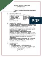 Informe 9- Cambio de Fase de La Naftalina