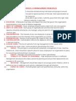 14 Management Principle