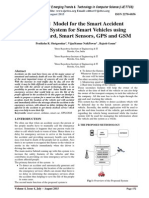 Proposed Model for the Smart Accident Detection System for Smart Vehicles using Arduino board, Smart Sensors, GPS and GSM