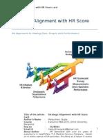 Strategic Alignment With HR Scorecare -Reg No. 1528944