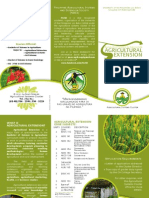 Agricultural Extension Brochure