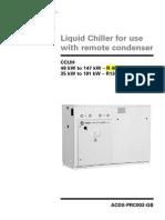 Liquid Chiller With Remote Condenser TRANE CCUH
