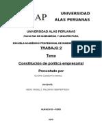 Constitucion Politica Empresarial
