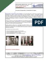 Purificadoras y  Embotelladoras de agua mineral industriales