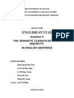 English Syntax- Semantic roles of Adjuncts