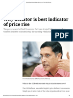 Why Deflator is Best Indicator of Price Rise _ the Indian Express