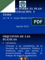 Pláticas Tesis (Febrero 2015)