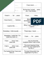 Grammar Intermediate Life Speaking Prompts