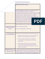 teaching strategies plan