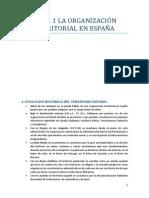 Tema 1 La Organización Territorial en España