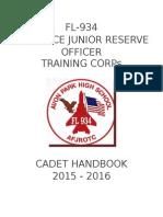 cadet handbook 15-16