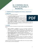 Tema 2 España en El Contexto Europeo y Mundial