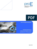 Quality Requirements and Test Guidelines for PTFE Products
