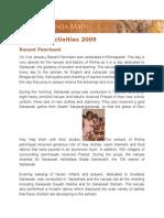 Report of Activities 2009