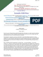 Scientific GOD Prize Website Snapshot