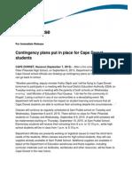 2015-09 (EDU) NR24 Contingency Plans Put in Place for Cape Dorset