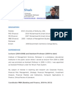 CV of Attaullah Shah, Imsciences 2013