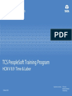 PeopleSoft Training Program HCM Time and Labor v1.0