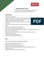 Operations Engineer - Directi - - JD, Process & Salary