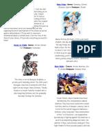 Spring 2014 Anime Visual Guide