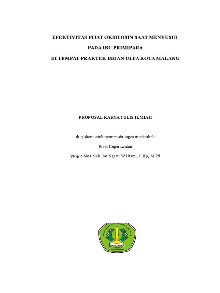 Proposal Keperawatan Maternitas