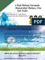 Pengertian Budi Bahasa Daripada Perspektif Masyarakat Melayu, Cina Dan India