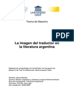 Traductores en La Literatura Argentina