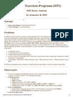 Exercício Programa (MAC110 -IME/USP)