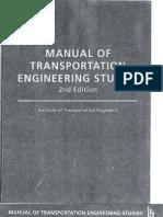 Manual of Transportation Engineering Studies