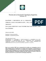 Diagenesis y Procedencia de Una Formacion en El Valle de Ia Luna San Juan Argentina