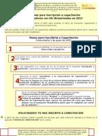 Instruciones Para Capacitación 2015
