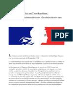 Contribution Du PRG 67- Vers Une VI ème République