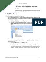 Word 2007 Mail Merge