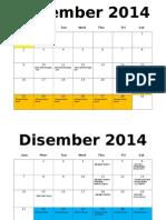 Kalendar Akademik Disember 2014 - April 2015