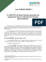 présentation du réseau ferme déphy pépins (octobre 2012)