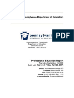 Professional Education Plan