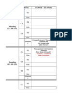 Time Table ForTerm 3, Week 4 & 5