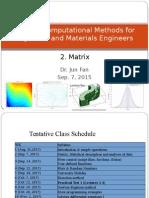 AP3114 Lecture WK2 Matrix Statistics