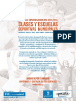 Folleto Clases y Escuelas 2015-16