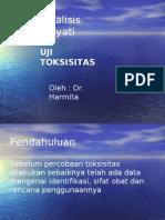 MATERI - Analisis Hayati Uji Toksisitas Secara Mikrobiologidr.harmi