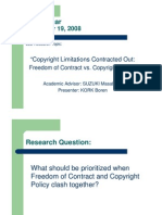 Copyright Limitations Contracted Out