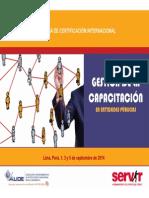 Gestion de La Capacitacion Sept 2014