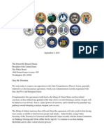 Republican Governors Iran Letter to President Obama