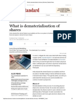 What is Dematerialisation of Shares _ Business Standard News