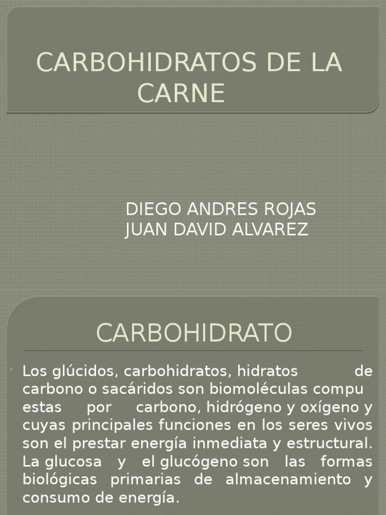 la carne de carbohidratos