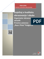 "OOO ""Raza i Pime"" - Podgorica - Januar 2015."