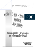 Modulo III - Blogs