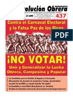 Semanario Revolución Obrera Edición No. 437