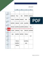 Class Schedule Template